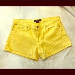 Ralph Lauren yellow denim shorts